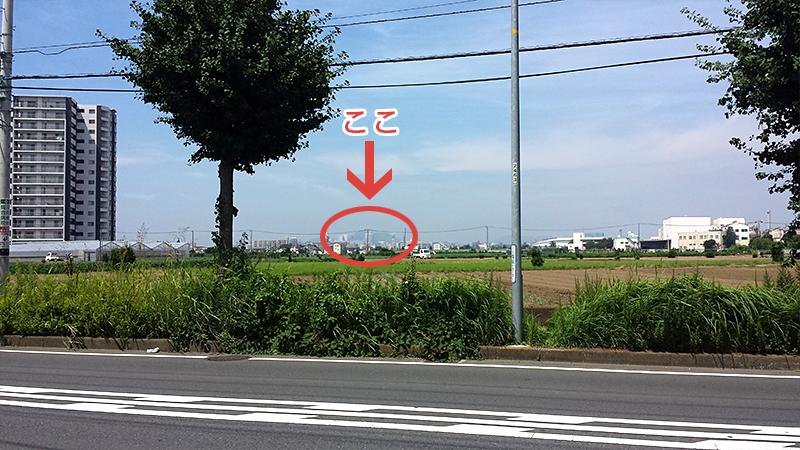 小さな山が見えた!