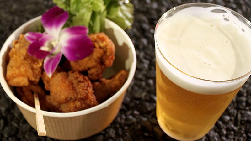 ビールとから揚げ