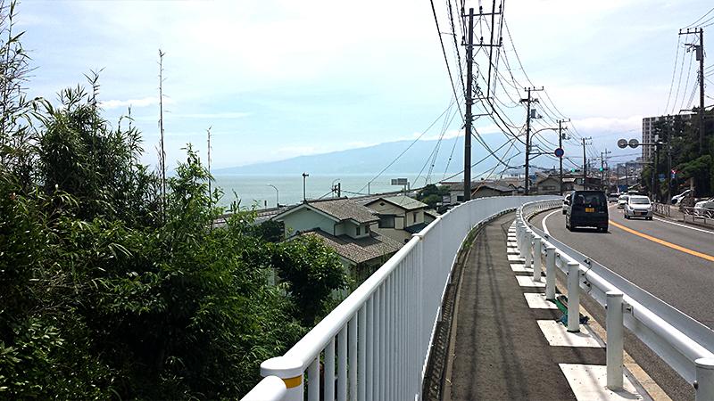 小田原市の海が見えた