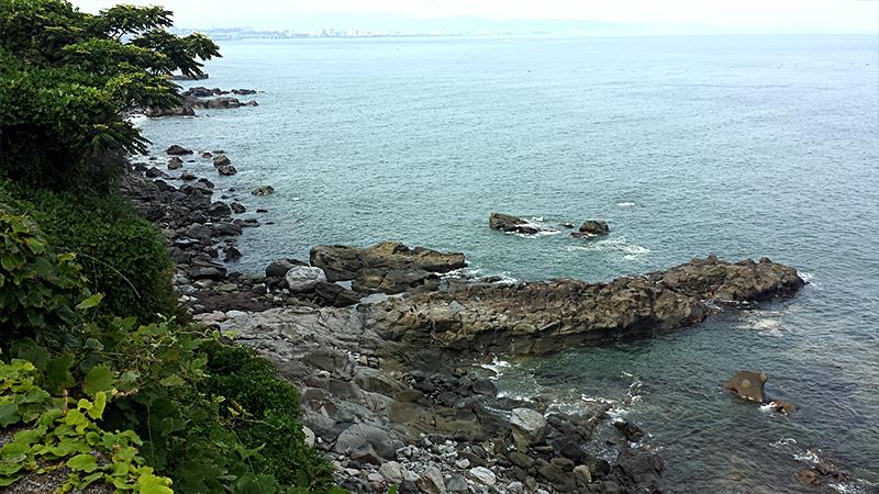 小田原の海の岩場
