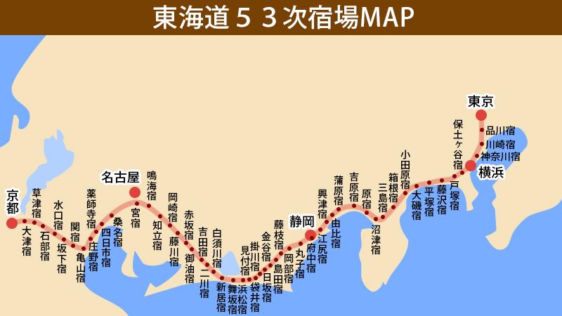東海道53次宿場町MAP