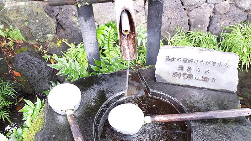 白滝公園の湧水