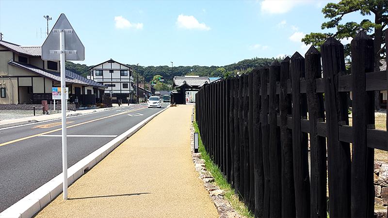 国指定特別史跡 新居関所 塀