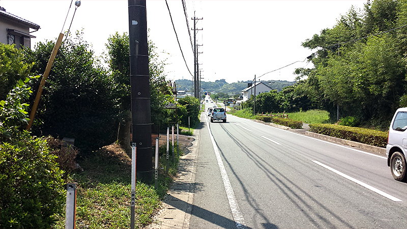 立岩街道道なり