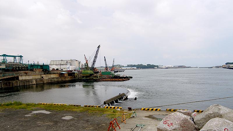 潤井川から駿河湾への流れ