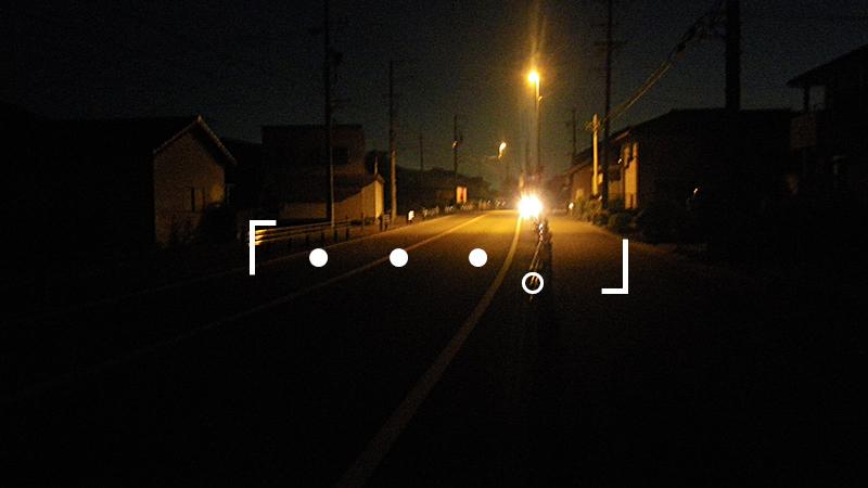 掛川へ向かう夜道