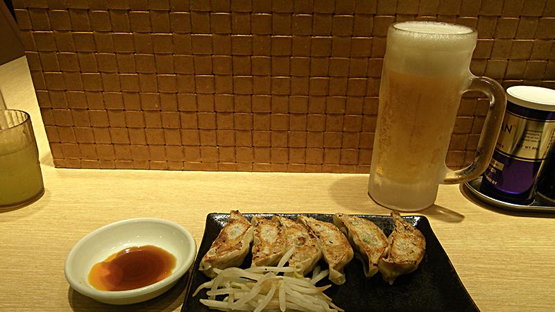 浜松の餃子とビール