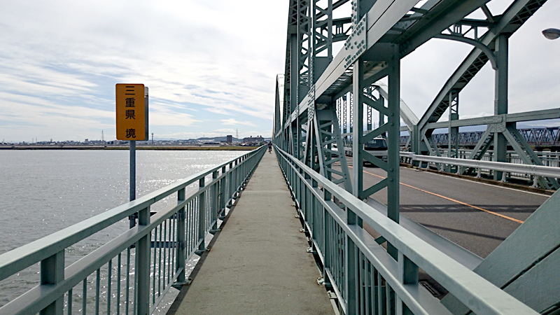 木曽川で三重県突入