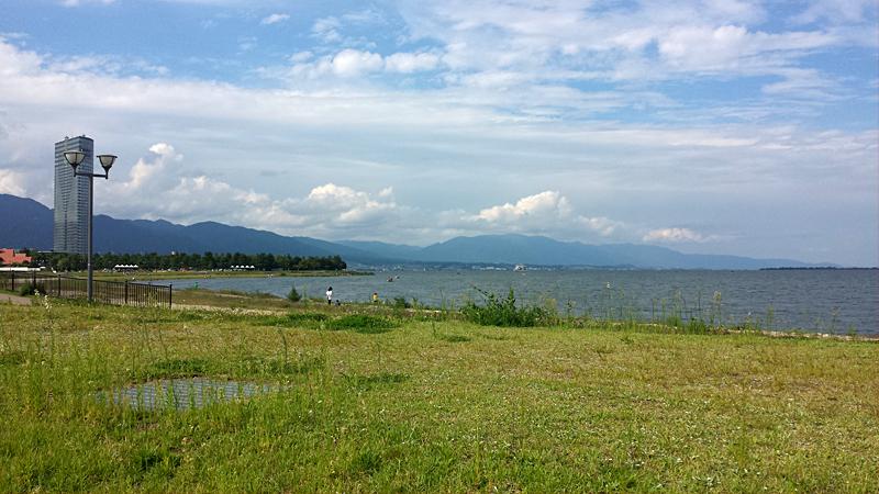 琵琶湖の湖岸