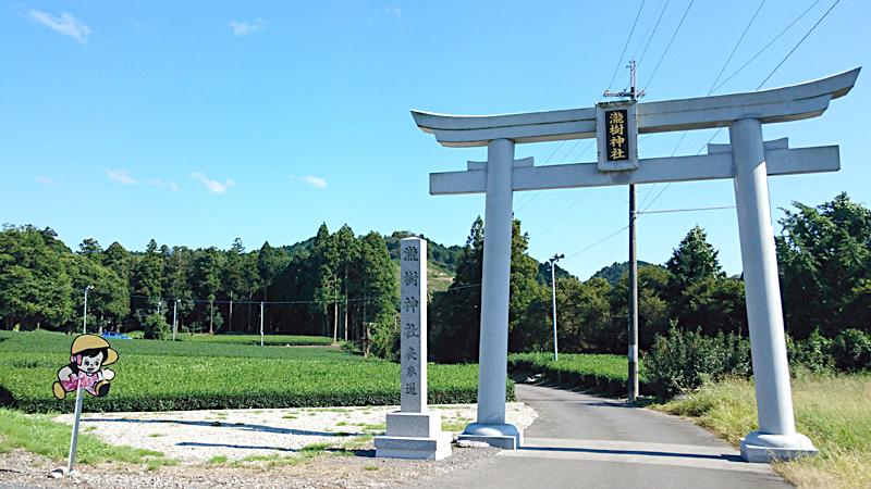 龍瀧神社のシュールな鳥居