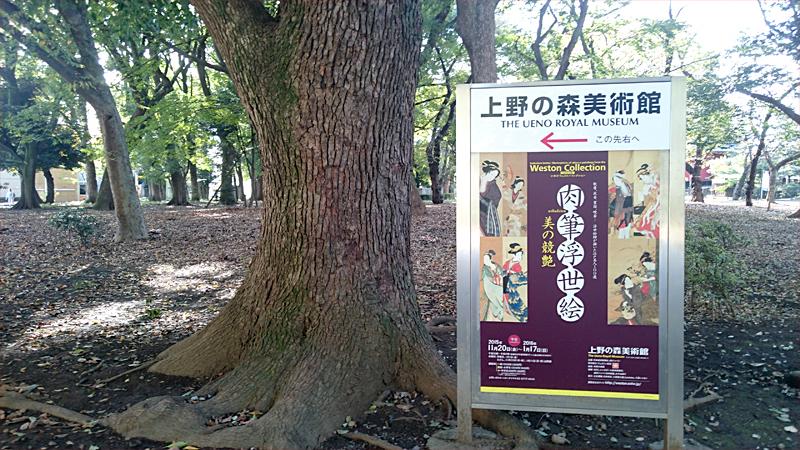 上野の森美術館の看板