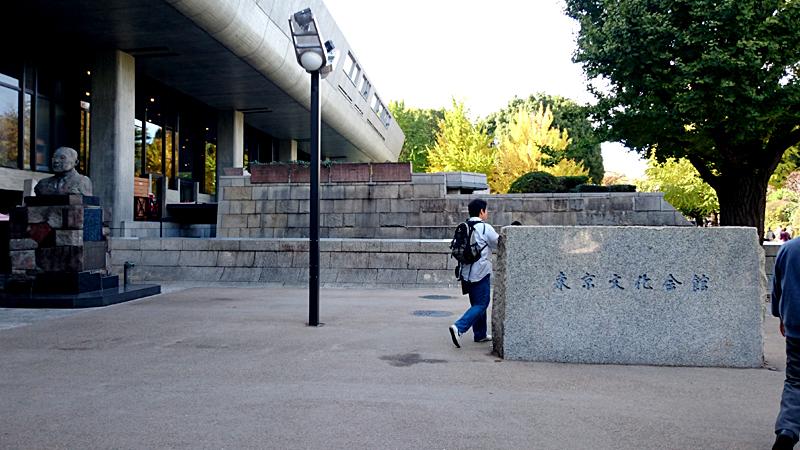 東京文化会館から見た銀杏の木