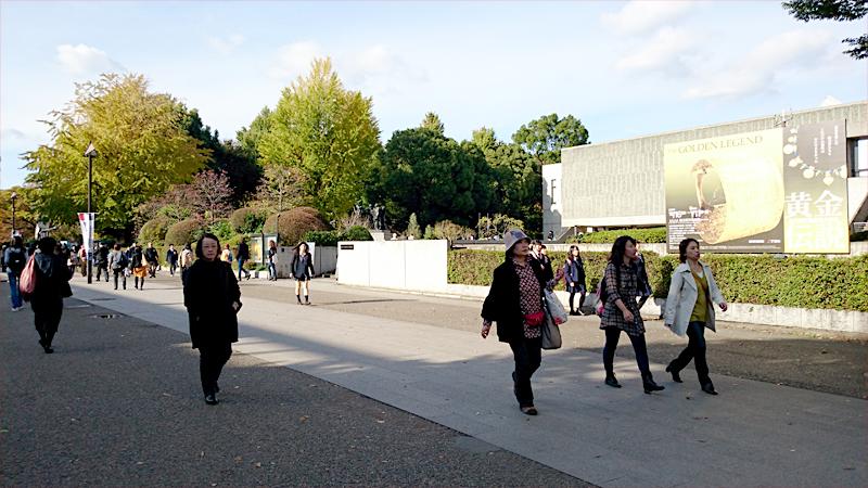 国立西洋美術館と紅葉