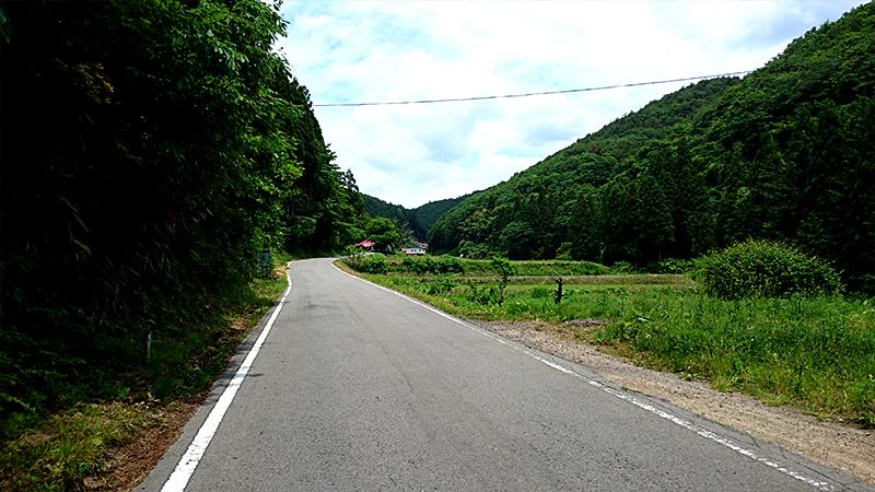 東北の山深い道