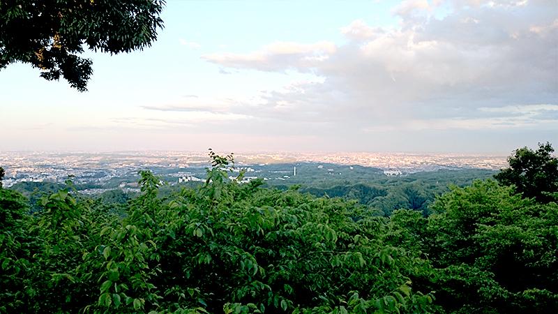 高尾山の上からの眺め