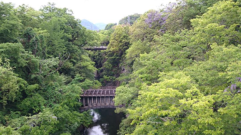 旧甲州街道 日本三大奇橋 猿橋