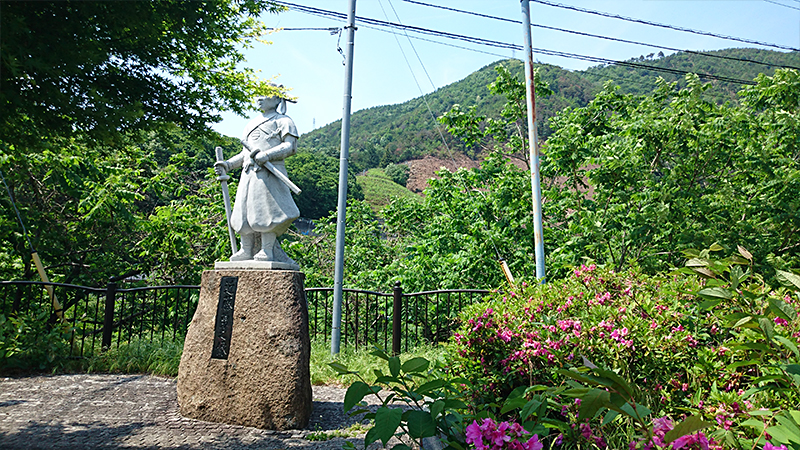 新選組近藤勇の石像 甲州勝沼の戦い