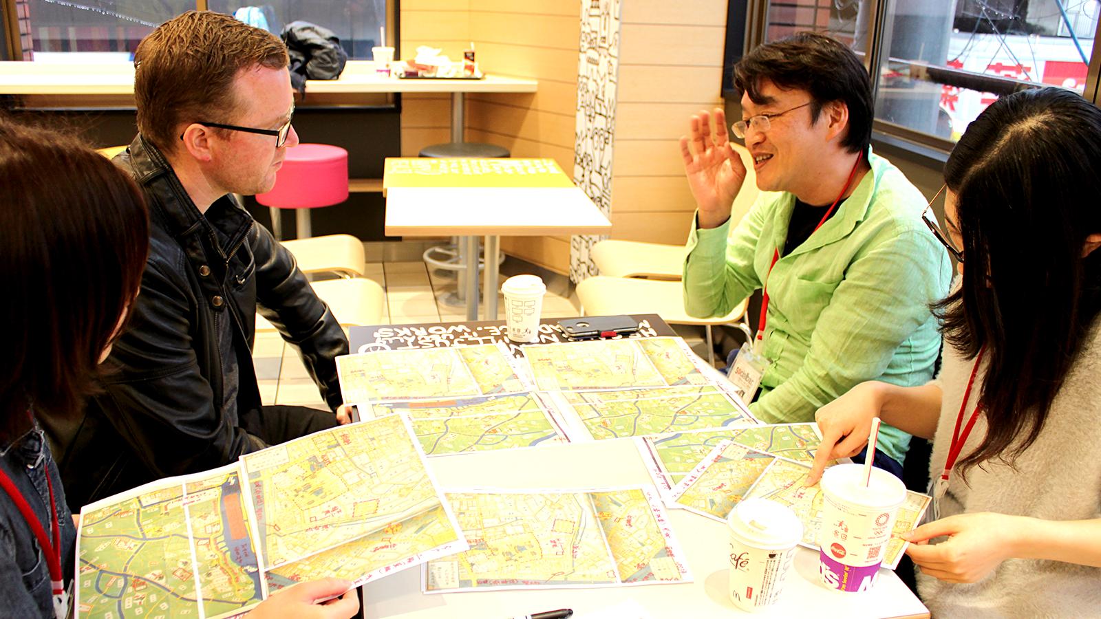 江戸の古地図でミーティング