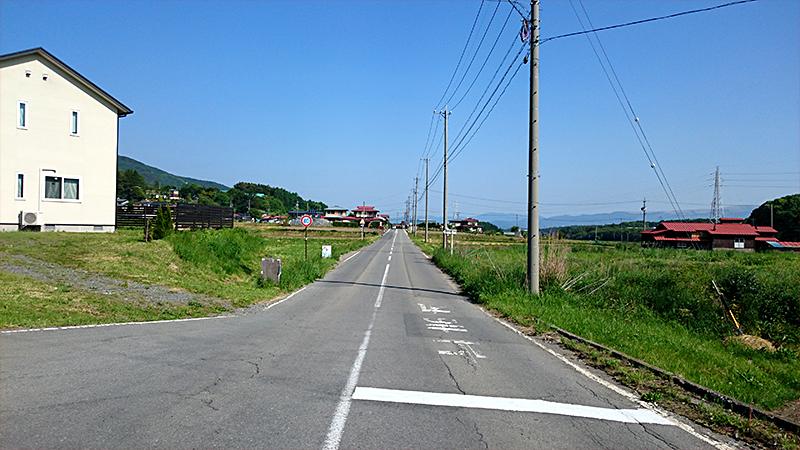 富士見あたりの旧甲州街道