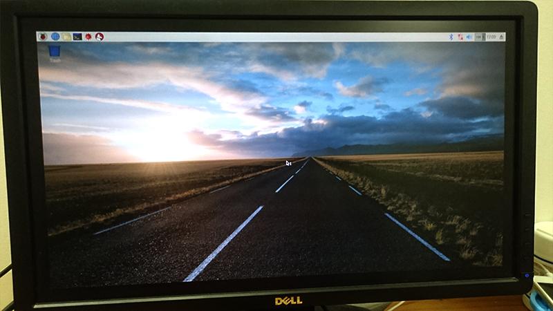 ラズベリーパイデスクトップ画面