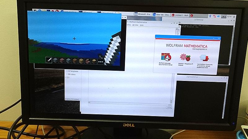 ラズベリーパイの様々なアプリとデスクトップ画面