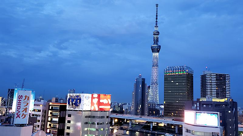 東京スカイツリーのライトアップ